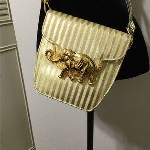 Something unusual! Cute gold striped bag!